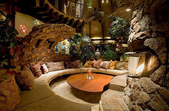 Magic Mushroom Vacation House in Aspen.  The outside is different, but step in and its amazing! #aspen #magicmushroom