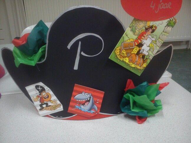 Verjaardag muts Piet piraat