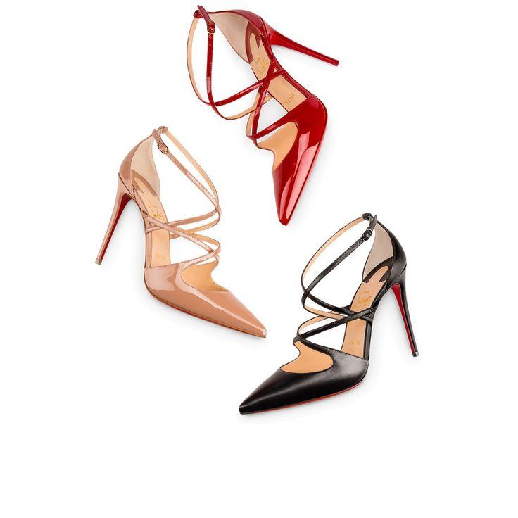 CROSSFLIKETA PATENT 100 Nude Patent Calfskin - Women Shoes - Christian Louboutin