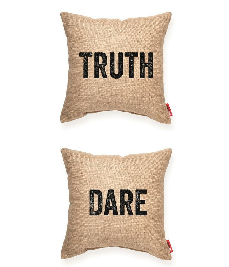truthdare burlap throw pillow posh365inc decorative accent burlap