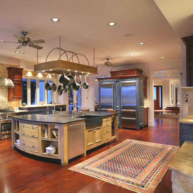 Next House Must Have A Large Kitchen Kitchen Must Have Pinterest Pot Racks Heavens And House