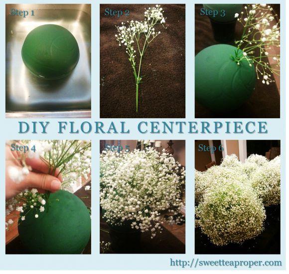 Easy DIY Flower Arrangements – Part 2 | Baby's Breath Centerpiece | Mercur… – blumen