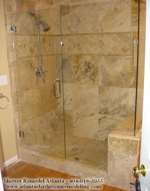 Travertine shower tile ideas bathroom pinterest for Travertine tile designs