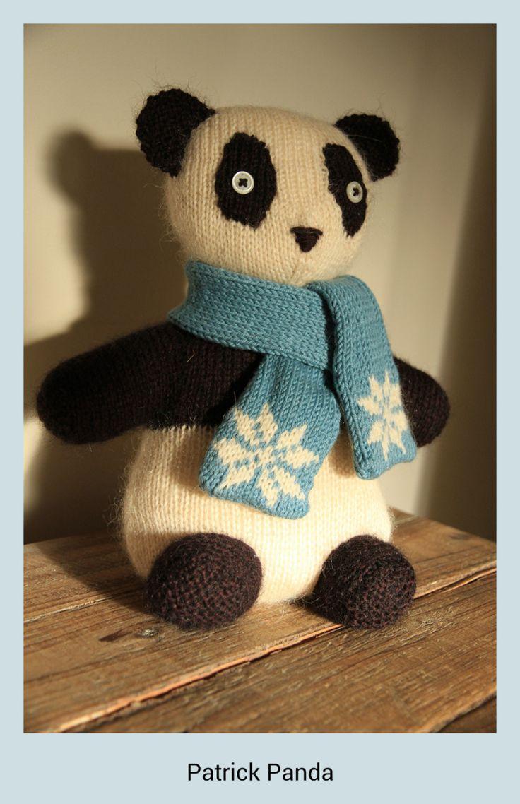 Patrick the Panda #knitted #panda #doorstop #Rowan