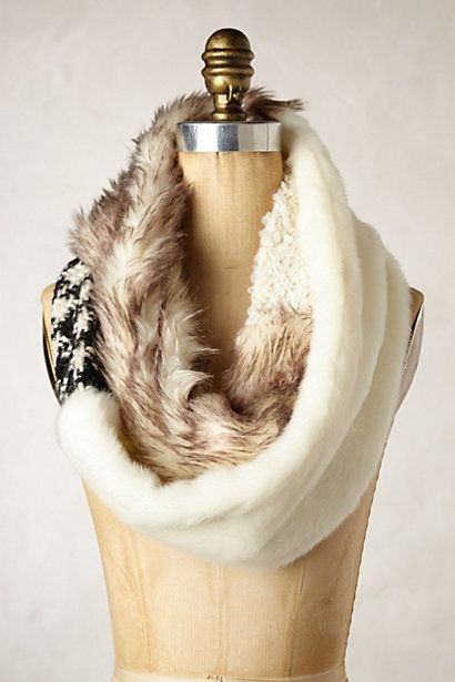 Miru Faux-Fur Scarf #anthropologie