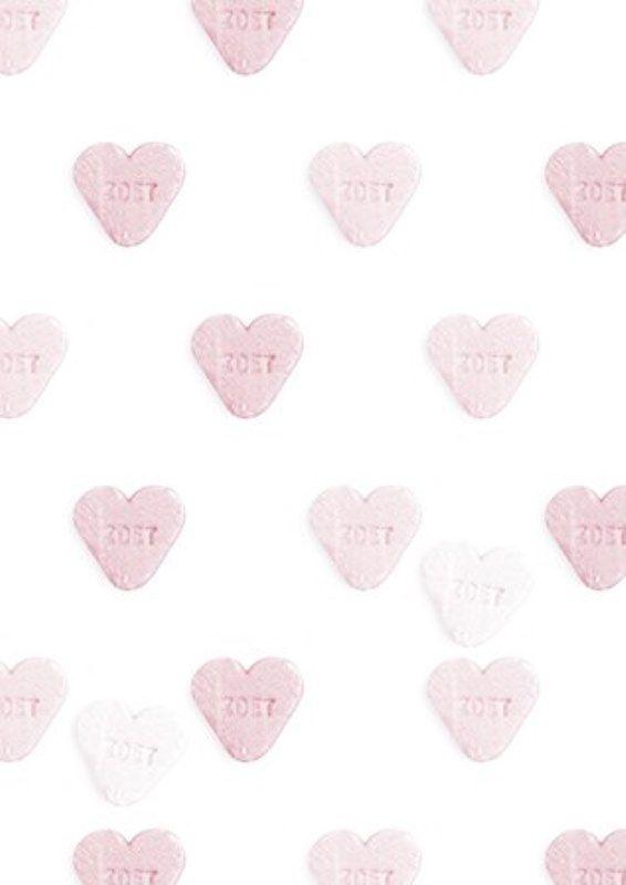 Behang Roze hartjes? De leukste Behang voor de kinderkamer bij Saartje Prum.