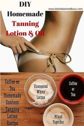 DIY Natural Homemade Tanning Lotion & Oil #acnetip