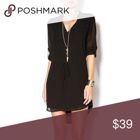 Naked Zebra Black Shirt Dress Easy chiffon black tunic shirt dress to wear in so many ways! Dress it up or dress it down. This is a classic piece. Naked Zebra Dresses