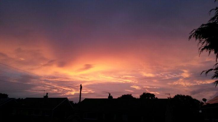 Pretty pink and purple sunset