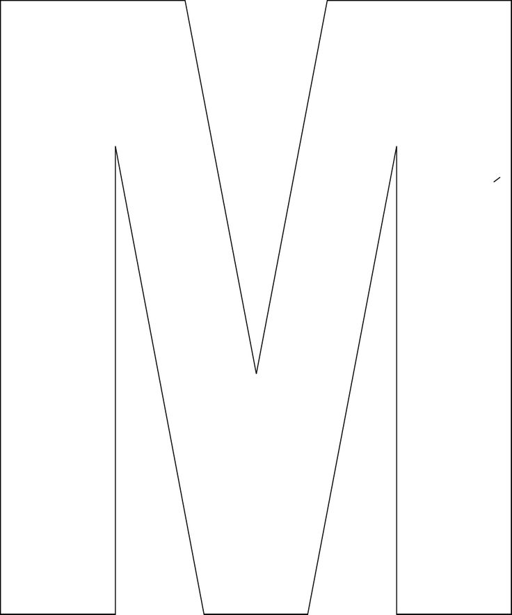 Printable letter m template the image for Party wall act template