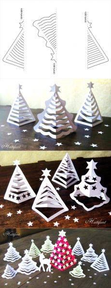 Paper trees, let's make Christmas forest