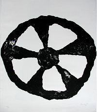 1993, Das Rad, Lithograph ca 70 x 55 cm