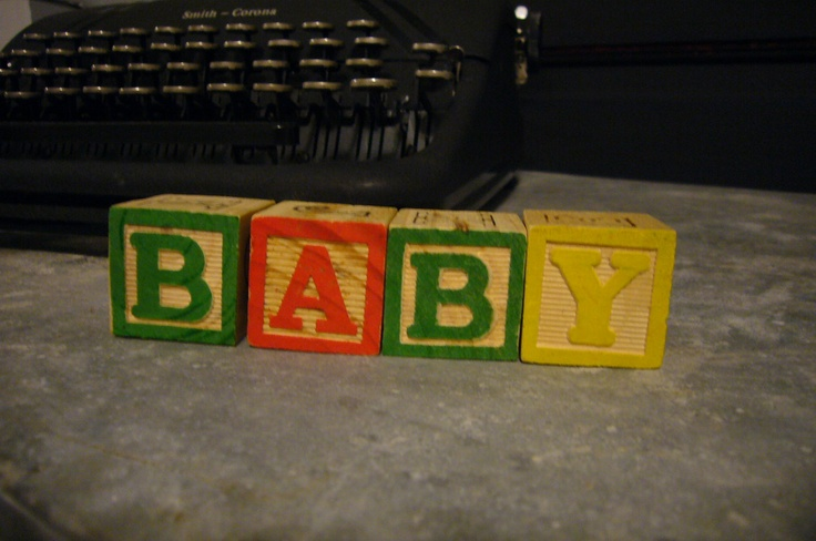 Vintage wood Alphabet toy block blocks-BABY shower decoration photo prop. $5.00, via Etsy.