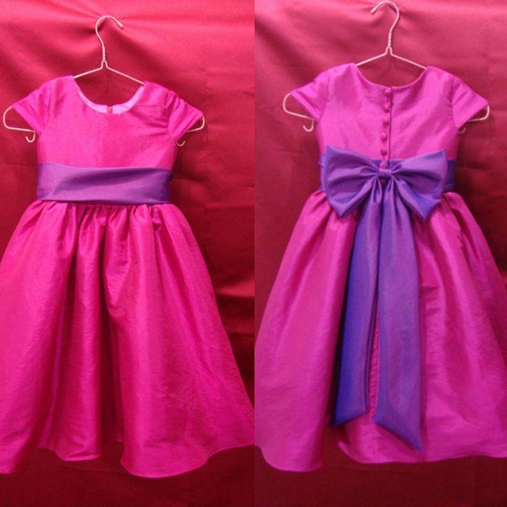 Ас картина трапециевидный фестончатый бант длиной до колен пуговица платья девочки дети свадьба красивый цветок девочка платья