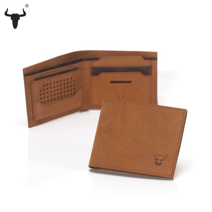Men's Slim Genuine Cowhide Leather Wallet - Pick Pay Post