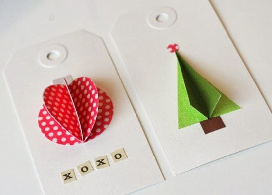 DIY 3D Gift Tags  -  #diy #giftgiving #party  -   http://alittlebitofthisthatandeverything.blogspot.com/
