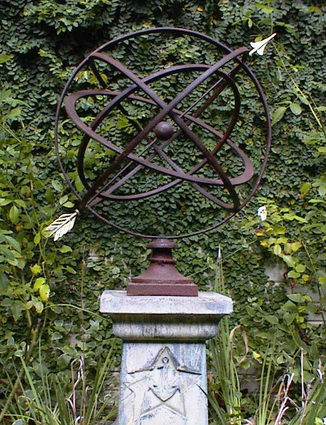 24 Inch Armillary Sphere Garden Art In Many Colors Garden