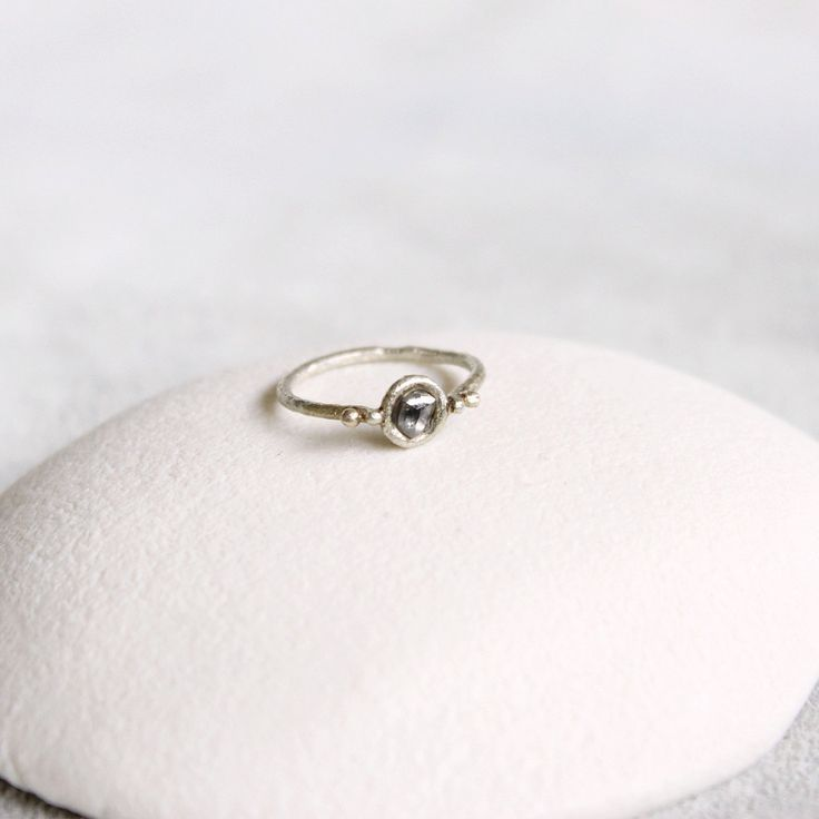 White Rough Diamond Ring by TamaraGomez on Etsy