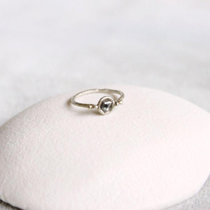 White Rough Diamond Ring by TamaraGomez on Etsy