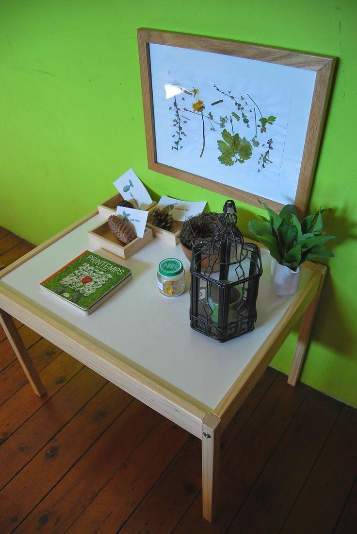 """Merci qui ? MERCI MONTESSORI !: Notre table """"de la nature"""""""