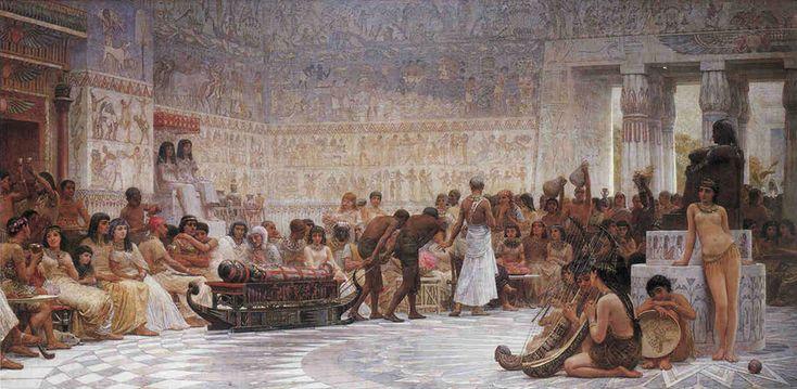 An Egyptian Feast By Edwin Longsden Long Edwin Longsden