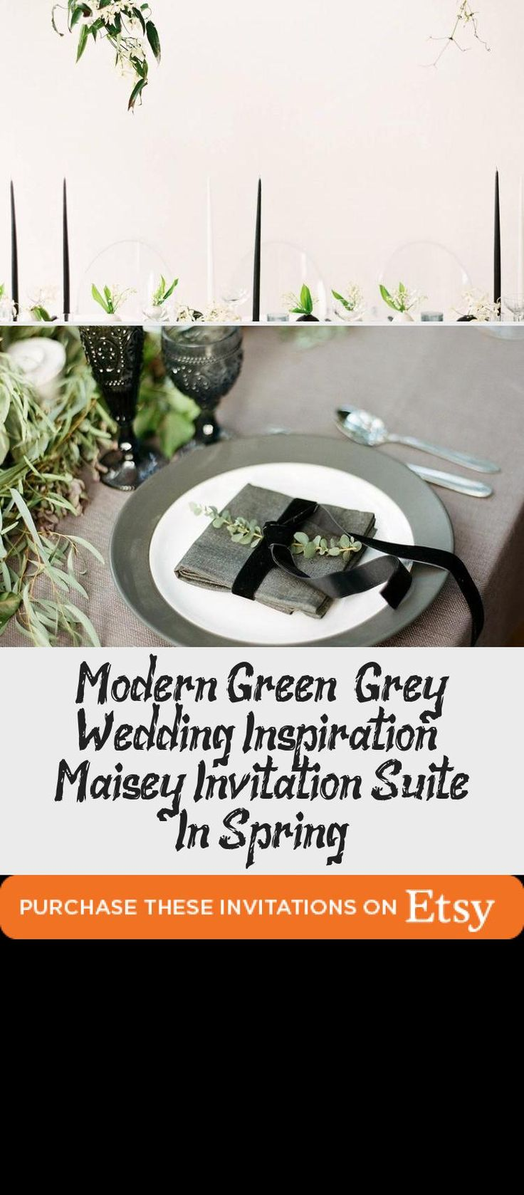 Botanical illustration Green & Grey Wedding inspiration perfect for a modern garden wedding or an urban wedding dripping with greenery. Palette of greens - emerald and sage. Earthy and organic with clean, modern touches. Bridesmaid dresses #BridesmaidDressesColors #BridesmaidDressesBlue #GreenBridesmaidDresses #BridesmaidDressesDustyRose #SageBridesmaidDresses