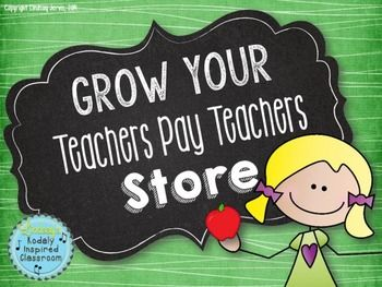 Grow Your Teachers Pay Teachers Store - Are you a TpT seller wanting some tips to improve your products, store, bring more traffic, and tax advice? This product was designed for both new sellers and experienced sellers wanting to improve their stores and sales. I have been selling for almost a year and a half and have learned much of this through trial and error and collaboration with other TpT sellers. This file will save you tons of time and put you way ahead on the learning curve. #tpt $