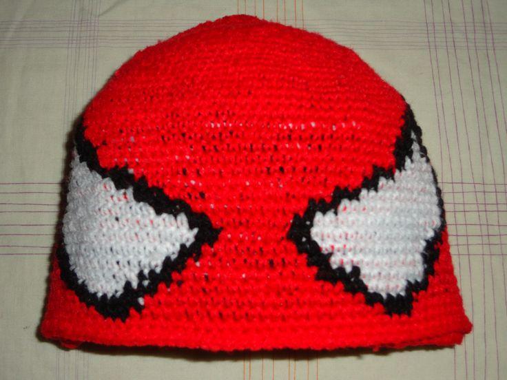 Gorro de lana (croche), spiderman