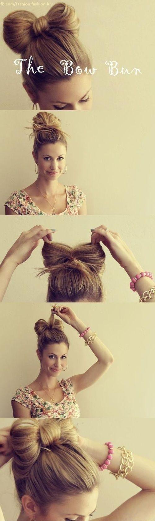 bow bun #hair