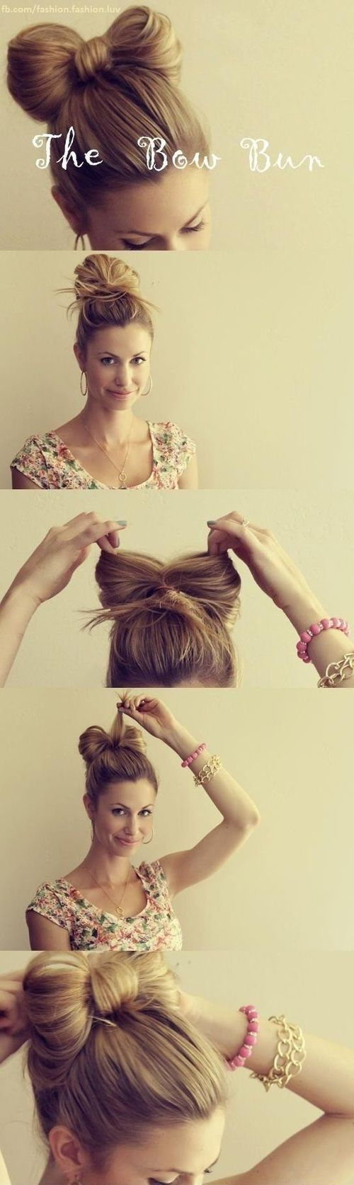 bow bun #hair