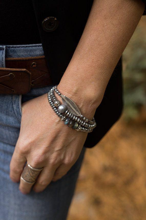 Stretch Bracelet, Boho Bracelets, Stack Bracelets, Pearl Bracelets, Hematite…