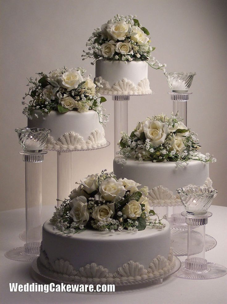 4 TIER WEDDING CAKE STAND STANDS / 3 TIER CANDLE STANDS