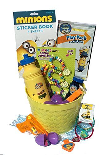 Despicable Me Minion Filled Easter Egg Basket FOR YOUR GIRL - Hours Of Fun for Easter Egg Hunts and  @ niftywarehouse.com #NiftyWarehouse #DespicableMe #Movie #Minions #Movies #Minion #Animated #Kids