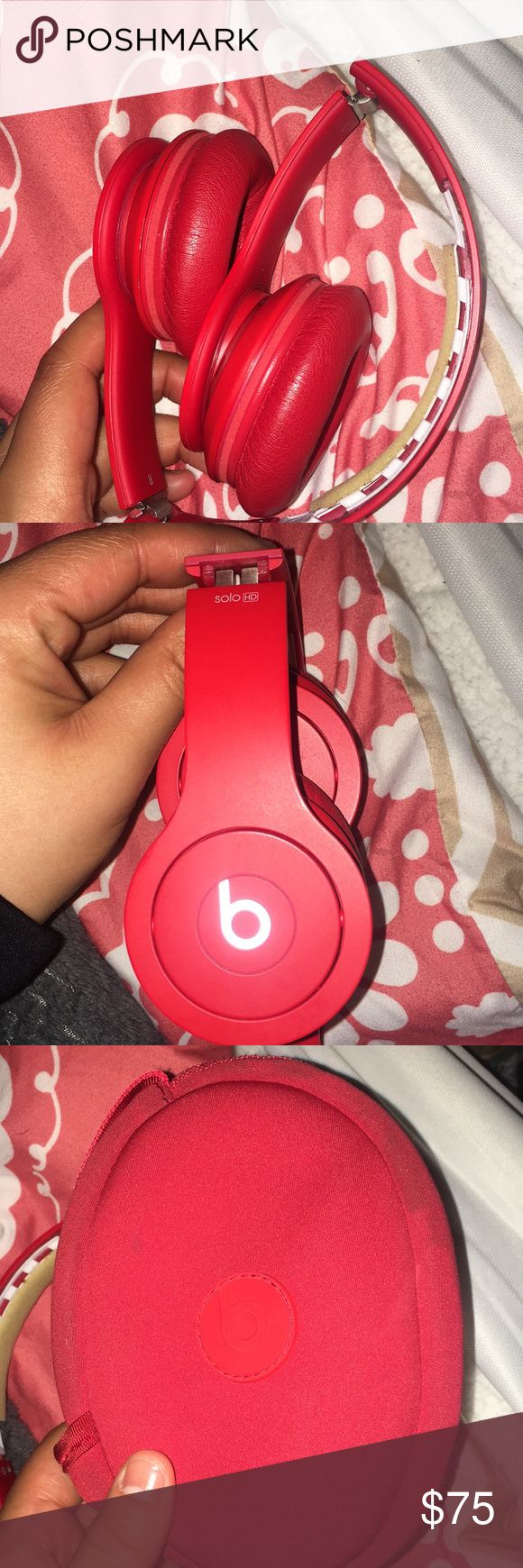 Beats by Dre headphones these still work perfectly fine! The top part is missing and so is the cord..but if you have a refusal aux cord then that will work just fine. Comes with box and case Accessories