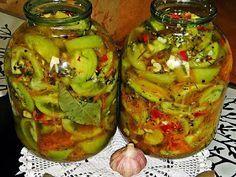 Вкусная Еда... Соленые зеленые помидоры – отличная зимняя закуска