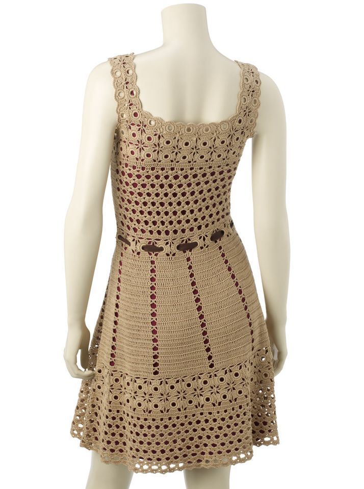 crochet dress.  I'd like to make this  whole dress with the stitches uses on the top part of the skirt