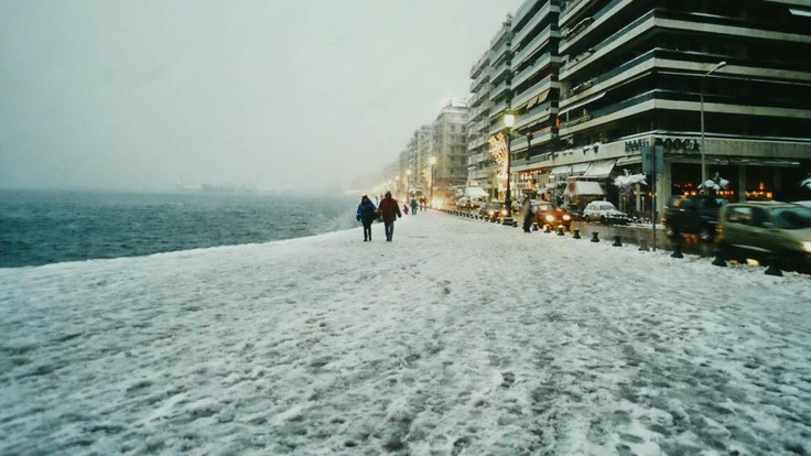 snow in Thessaloniki
