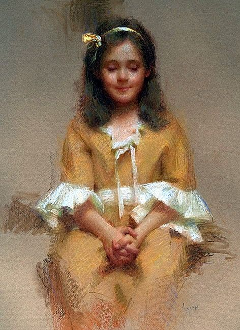 """""""Sitting Pretty"""" Pastel Susan Lyon"""