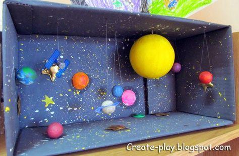 Дома и на улице!: Космос в картонной коробке