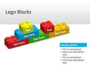 Bloques Lego plantilla de PowerPoint