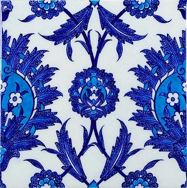 Floral Blue Turkish Tile