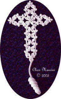 Free Crochet Pattern: Fancy Cross Bookmark