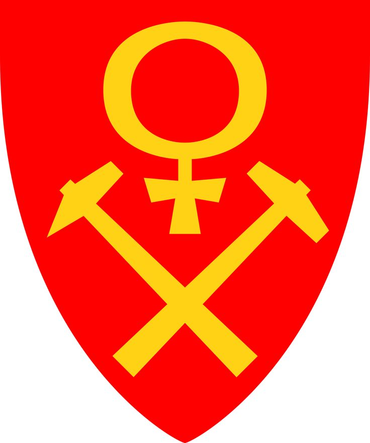 Coat of arms for the municipality of Røros (kommune), Norway