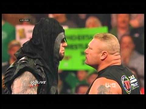 Undertaker Returns Chokeslams Brock Lesnar Wrestlemania 30 Raw