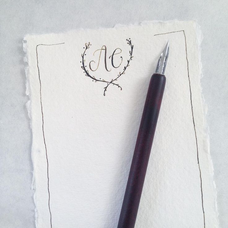 creating sweet little monogram stationary on handmade paper #morningslikethese ✒️✨ #artsycanvasgirl