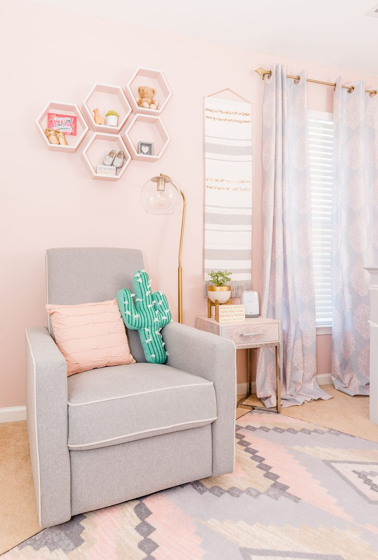 Project Nursery - Feminine Southwestern Themed Nursery for a Girl