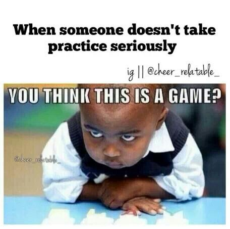 THIS IS PERFECTION. This so me like seriously if you goof off in practice you're gonna goof off during the game