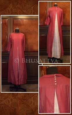 Certified organic natural dyed hand crafted #womens #kurta with contrasting…