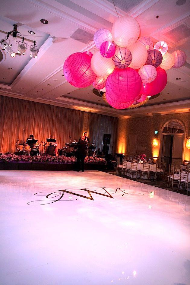 paper lantern chandelier Real Weddings Gabrielle