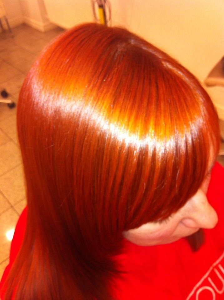 Fiery copper from 6C PPD free #CHIcolor Ionic Permanent Shine Hair Color